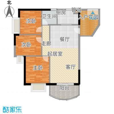 富力广场91.00㎡S3栋5-22层03单面积9100m户型