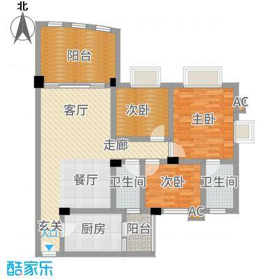 顺德碧桂园西苑97.00㎡户面积9700m户型