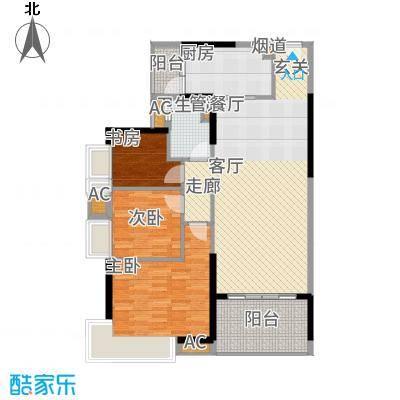 碧桂园凤凰城凤锦苑105.00㎡2面积10500m户型