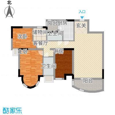 骏景花园131.44㎡世家国际公寓C户面积13144m户型