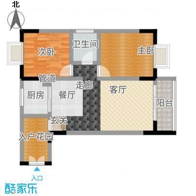 珠江帝景苑83.00㎡面积8300m户型