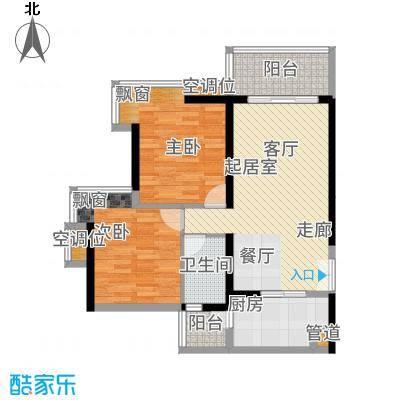 广州亚运城89.00㎡5座04单元2室户型