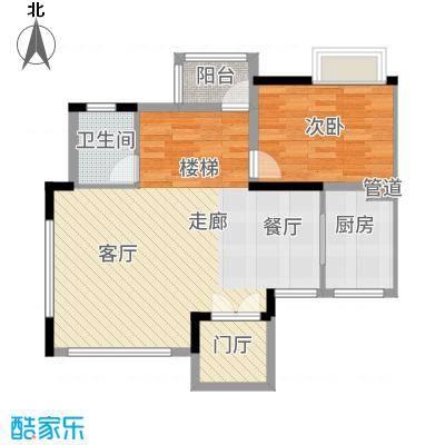顺德碧桂园95.00㎡D3505二层户型