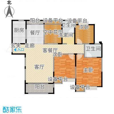 万业湖墅金典125.00㎡一期1、6、11号楼标准层E户型