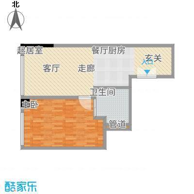 晋合公寓68.00㎡3#标准层D2户型