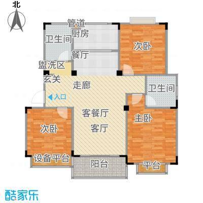 惠泽云锦城113.00㎡多层18#标准层B1户型