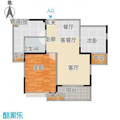 万业湖墅金典82.00㎡二期29、35号楼标准层K户型