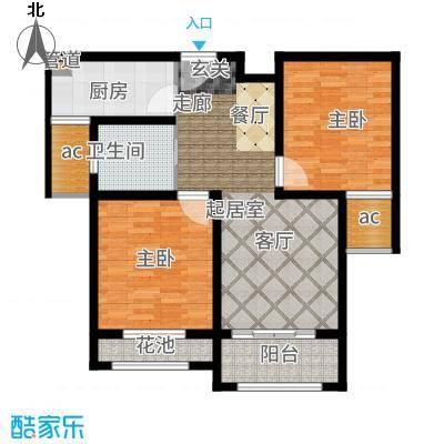 伟业迎春世家88.00㎡高层19#、20#楼标准层G2户型