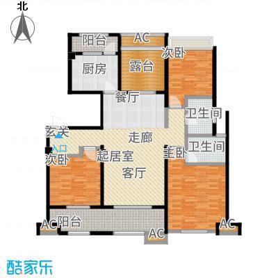 九龙仓碧堤半岛140.00㎡2-33#B+空中花园户型