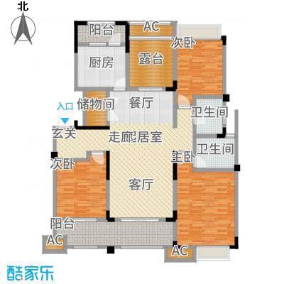 九龙仓碧堤半岛140.00㎡洋房C4+空中花园户型