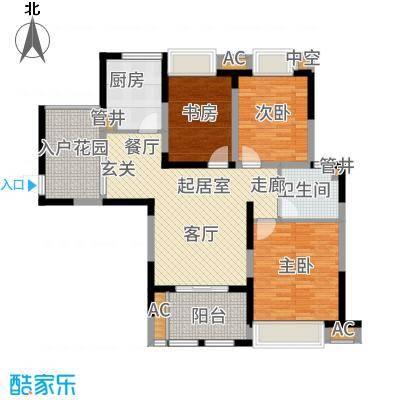 中天和景苑102.00㎡一期5#、10#楼标准层C6户型