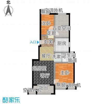 万科VC小镇86.00㎡5#、6#、9#、10#小高层标准层B户型