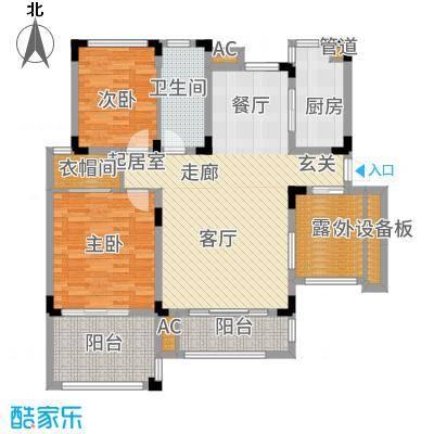 北江锦城101.00㎡二期B06栋标准层Hb2-5户型