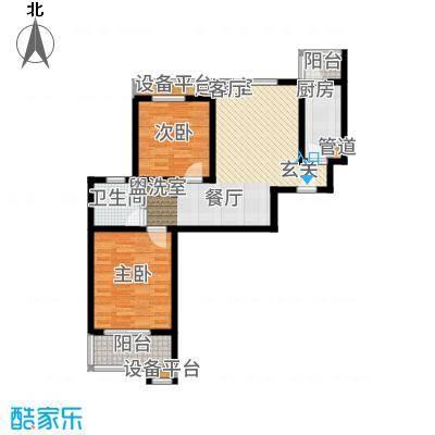武夷绿洲80.00㎡四期1-10号楼标准层B2户型