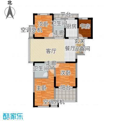 天淳江南141.00㎡二期2、4、6、9号楼标准层B1户型