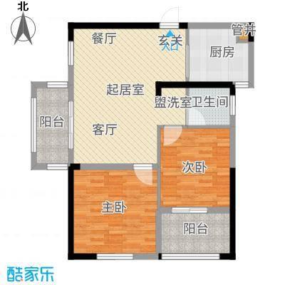 竹山华庭81.00㎡一期1、2号楼标准层A1户型