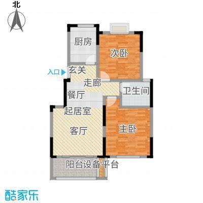 爱涛天逸园87.00㎡五期26栋标准层G1户型