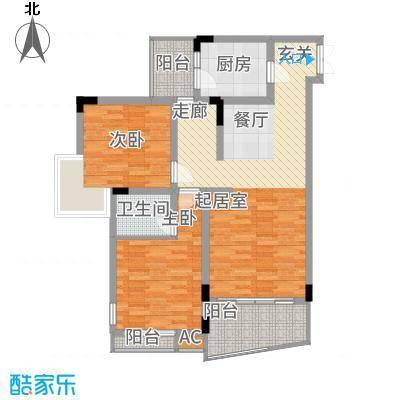 金香林81.94㎡8/11号楼2/4号面积8194m户型