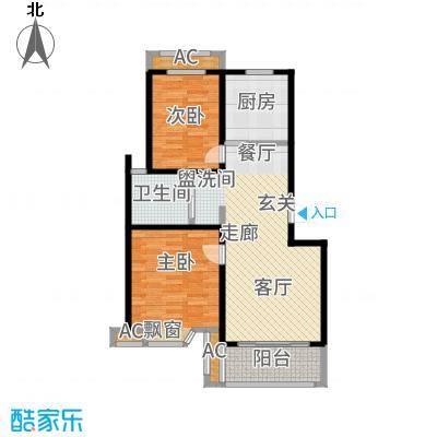 凯阳花园84.00㎡二期6、11、12幢标准层E户型