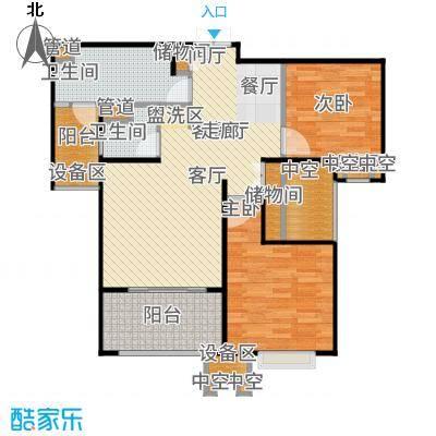 金地自在城88.00㎡三期15号楼标准层B1-3户型