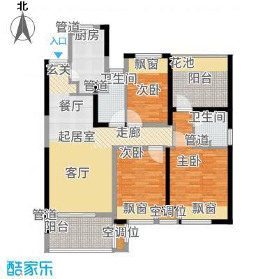 新城玖珑湖117.00㎡二期12#楼标准层C1户型