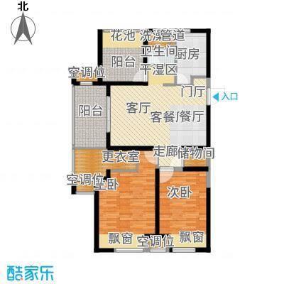新城玖珑湖102.00㎡二期11#、12#楼标准层B1户型