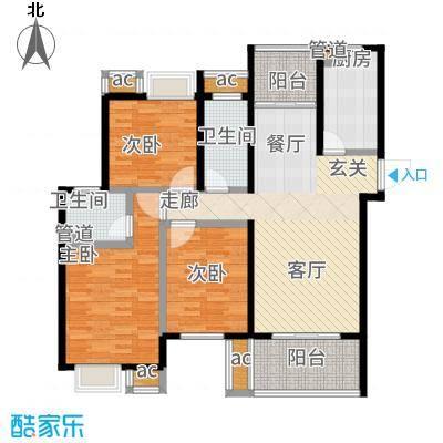莱蒙水榭阳光117.00㎡一期3、4、9、10号楼标准层A户型