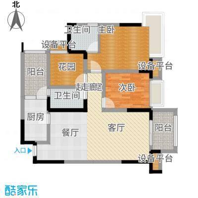 东原D7区90.71㎡四期10号楼标准层4号房户型