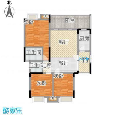 巨龙江山国际107.72㎡1期洋房1/2/6/7栋标准层D4户型