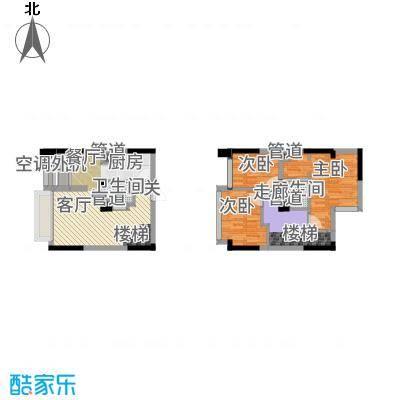 同景国际城迈上42.34㎡2、3号楼面积4234m户型