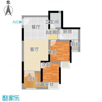 商社时代峰汇地块76.71㎡一期1号楼标准层C-1户型