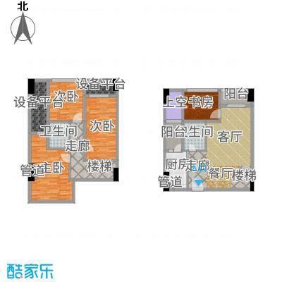 兰花丽景添丁62.00㎡一期3栋标准层D1户型