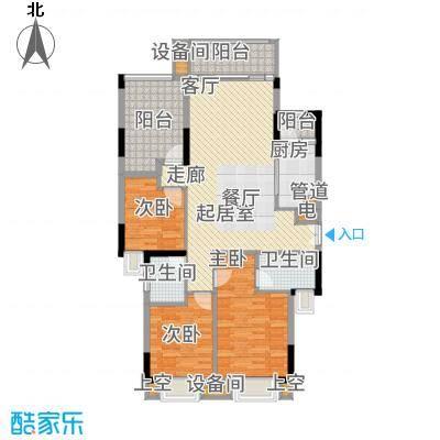 康田紫悦府90.61㎡一期平层洋房B3二层户型