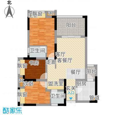 首创光和城84.00㎡二期5号楼标准层C5户型
