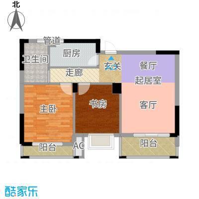 润泽大院88.00㎡中庆二期-B2户型