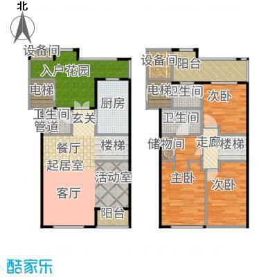 新宏香榭丽舍103.00㎡新宏・香榭丽舍B跃户型