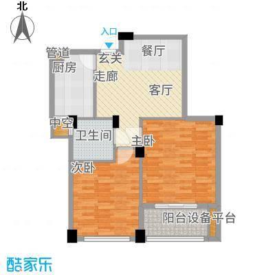 春江名城72.50㎡二期A8-2户型
