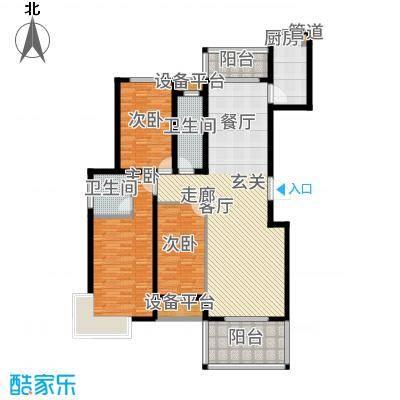 香江名邸142.80㎡高层A2户型