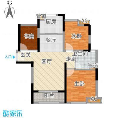 中冶梧桐园92.00㎡高层A2户型