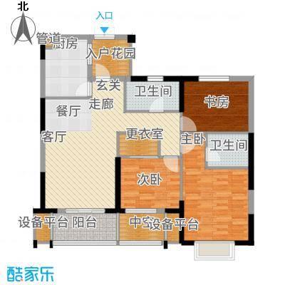 佳源广场110.73㎡HX-方-1#2#户型