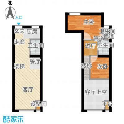 裕东公寓56.00㎡LOFT1-1-09户型