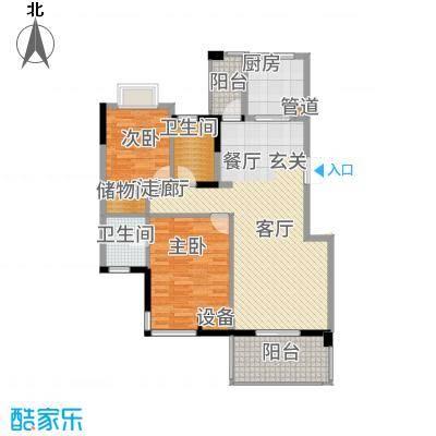盛世豪庭114.86㎡三期G面积11486m户型