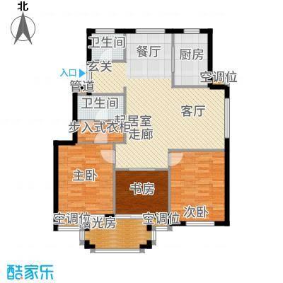 金府华庭104.00㎡10#、11#楼高层面积10400m户型