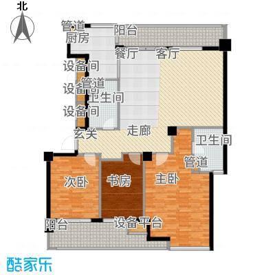 绿城慈园153.00㎡2#楼中间套标准面积15300m户型