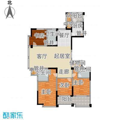 宁海世贸中心192.00㎡标准层D面积19200m户型