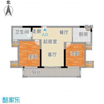 宁海世贸中心108.00㎡标准层B面积10800m户型