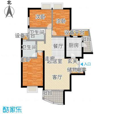 静安枫景130.29㎡房型: 三房; 面积段: 130.29 -134 平方米; 户型