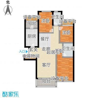 静安枫景105.00㎡房型: 二房; 面积段: 105 -105 平方米; 户型