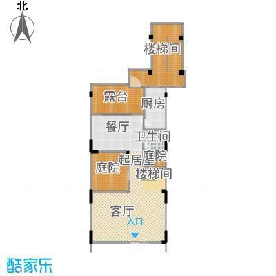 水月周庄139平米叠拼北入户户型3室2厅3卫