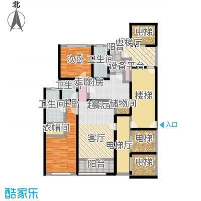 淮海晶华170.00㎡房型户型